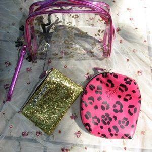 Betsey Johnson Set of Three Cosmetics Bags